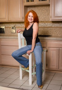 Steph in her kitchen
