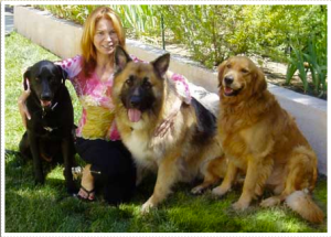 Lindsey Baker with dogs